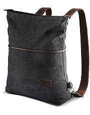 AtailorBird Canvas Backpack Casual Women Purse Vintage Anti-Theft Shoulder Bag Crossbody Bag Tote Handbag Rucksack