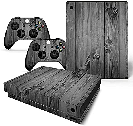 XBOX ONE X Skin Design Foils Pegatina Set - Grey Wood Motivo ...