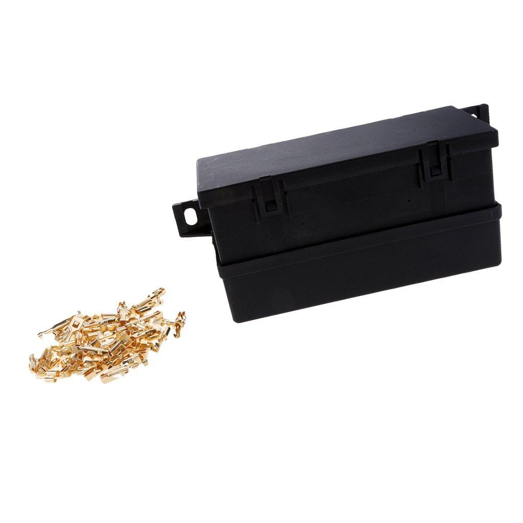 Homyl 1 Piece Black Plastic Boat 11 Way Blade Block Fuse Relay Box Chocolate Holder Waterproof