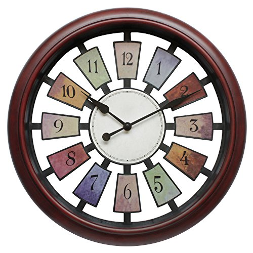 Decorative Wall Clock Gift - May Gifts 16 Inch Unique Decorative Wall Clock for Living Room, Large - Silent & Non-Ticking