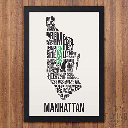 Manhattan (NYC) Neighborhood Map Print (Map York Neighborhood New)