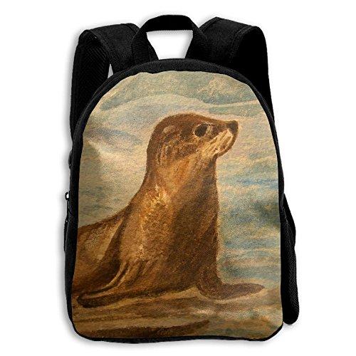 (Crazy Popo Unisex Baby Kid California Sea Lion Pre School Backpack Bags Shoulder School Backpack)
