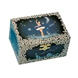 "Musicbox Kingdom 22004 Musical Jewelry Box Ballerina, Playing""Ballerina"", Blue"