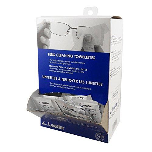 Towelette Dispenser - Leader Lens Cleaning Towelette Dispenser (Pack of 100)