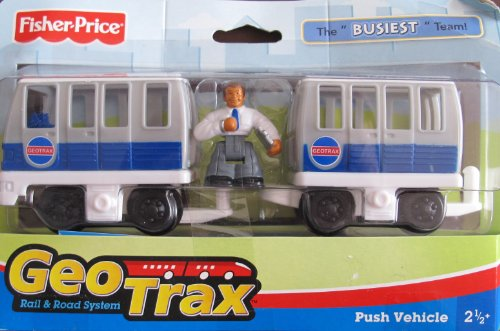 Fisher-Price Geotrax Rail & Road Push Vehicle the Busiest Team W Screech & Skip (2007