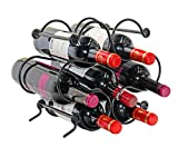 PAG 7 Bottles Metal Wine Racks Countertop/Tabletop Wine Storage Holder Stand, Black