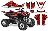 CreatorX Suzuki Ltz 400 2003-2008 Graphics Kit Decals Inferno Red