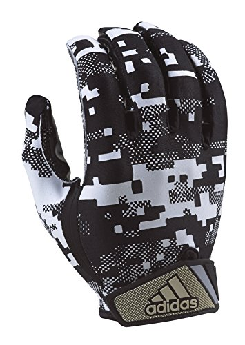 adidas Adult Digi Camo Receiver's Gloves, White/Black, X-Large