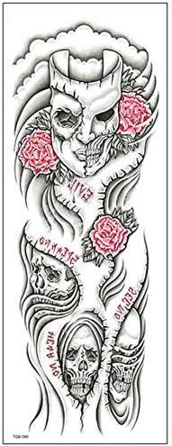 Cobertura total del brazo Tatuaje temporal para hombres y mujeres ...