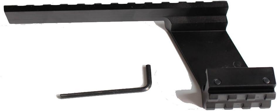 Tactical Universal Pistola Escala De Abajo a Arriba Weaver Rail Picatinny 20mm Montar Ajuste Glock 17 19 20 22 23 Accesorios de Caza
