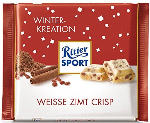 Ritter Sport Winter-Kreation Weisse Zimt Crisp (10 x 100g)