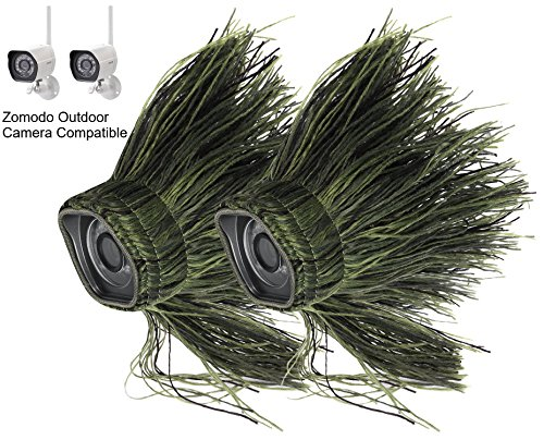 - Wasserstein Ghillie Skin Compatible With Zmodo Outdoor Wireless Smart HD Security Camera (2 Pack)