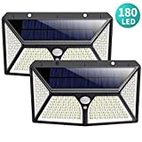 Solar Lights Outdoor,180 LEDs Wireless Motion Sensor Light 3 Modes Security Lighting Wall