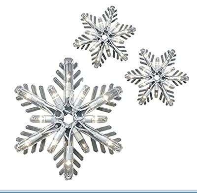 "GE 8 ct 7"" Elegant twinkling snowflake Icicle Lights - clear"
