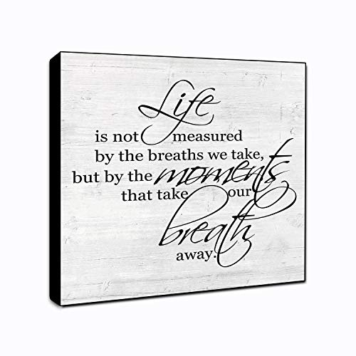 - LACOFFIO Life is Measured Wood Wall Art Decor Plaque 6