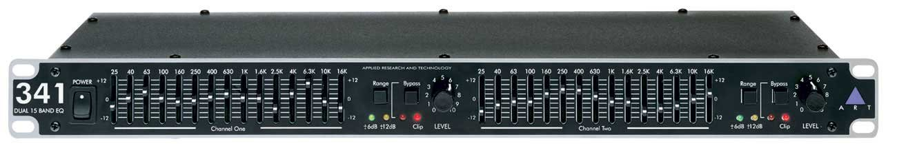 ART EQ341 Dual Channel 15 Band 2/3 Octave Graphic Equalizer by ART