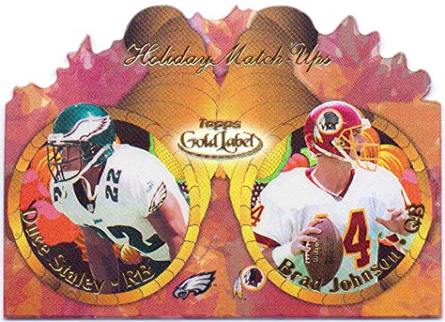 Topps Gold 2000 Label - Duce Staley, Brad Johnson 2000 Topps Gold Label Holiday Match-Ups #T11 - Philadelphia Eagles, Washington Redskins