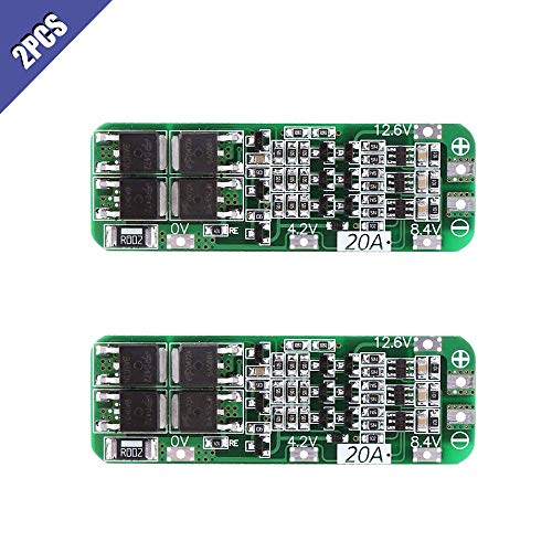 Comidox 2Pcs 3S 20A Li-ion Lithium Battery Protection Board 18650 26650 Charger PCB BMS Protection Board 12.6V Cell Module-AUTO Recovery ()