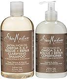 Shea Moisture Sacha Inchi Oil Duo Pack, Omega 3, 6, 9 Rescue & Repair Liquid Conditioner, 13 Ounce   Omega 3, 6, 9 Rescue & Repair Clarifying Liquid Shampoo, 13 Ounce