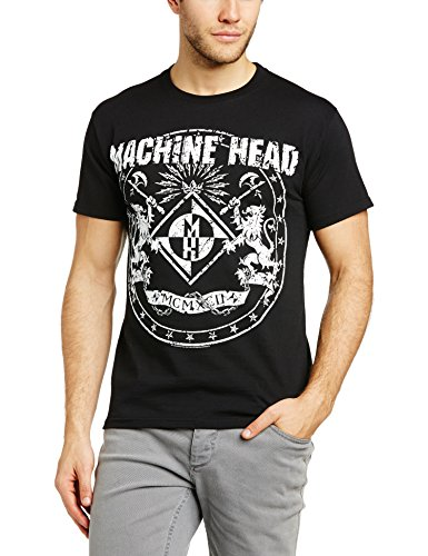 Machine Head Classic Crest Official Mens New Black T Shirt