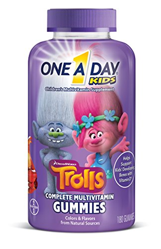 (One A Day Kids Trolls Multivitamin Gummies, 180 Count)