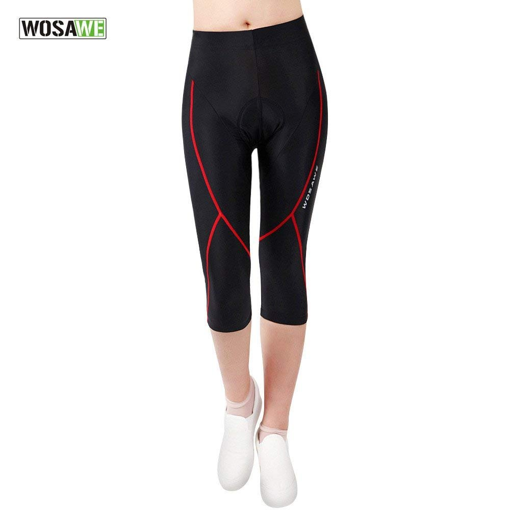 WOSAWE Cycling Jersey Women Breathable Short Sleeve Top 4D Gel Pad Pants Ladies Riding Suits