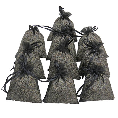 RakrisaSupplies Black Lavender Sachet Bags Pack of 15 | Natural Deodorizer, Moth Repellent, Highest Fragrance Lavender Scent Sachets for Wedding Toss, Potpourri, Pillow, Closet, Car | LS-003