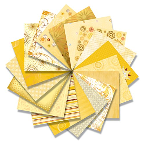 Blue Hills Studio BHS10201 ColorStories 12 inches x 12 inches Paper Pack Yellow