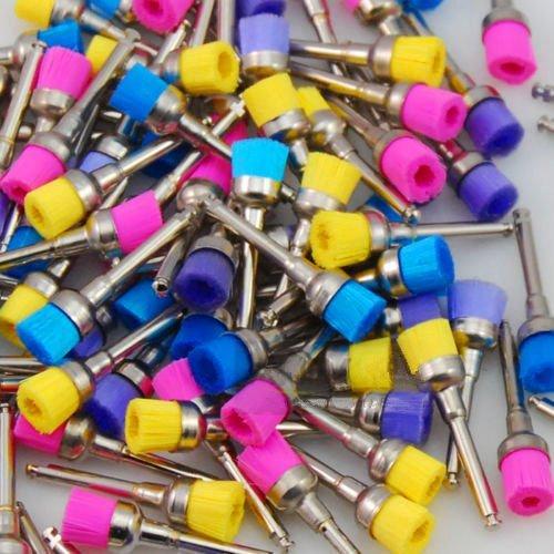 100pcs Dental multi Color Nylon Bowl latch Polishing Polisher Prophy Brushes