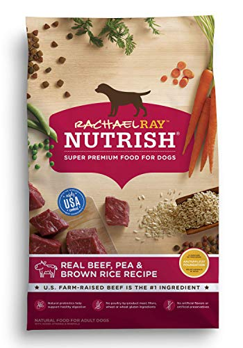 - Rachael Ray Nutrish Natural Premium Dry Dog Food, Real Beef, Pea, & Brown Rice Recipe, 28 Lbs