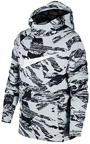 NIKE Boy's Therma Legacy Print Training Hoodie 856140-043 (Size: Medium) Black/White