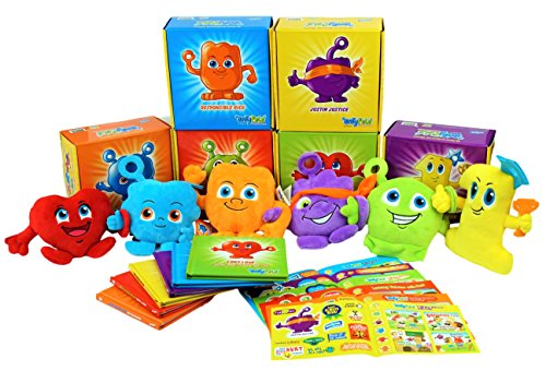 ENTYPALS Story Books Pack of 6 Fun Boxes Include Plush & Stickers. Inspires Ethics & Positive Values, Builds Character & Integrity by Entyva - Christmas Stickers Box Set
