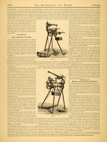 1879 Article Combination Fret Saw Antique Tool Henry Beach Montrose Pennsylvania - Original Print Article