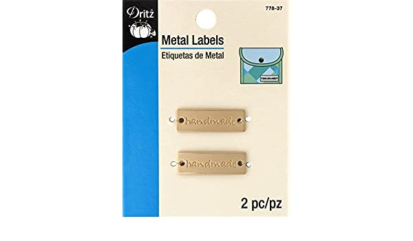 Dritz - Etiquetas metálicas Hechas a Mano (2 Quilates), Color Dorado Mate: Amazon.es: Hogar