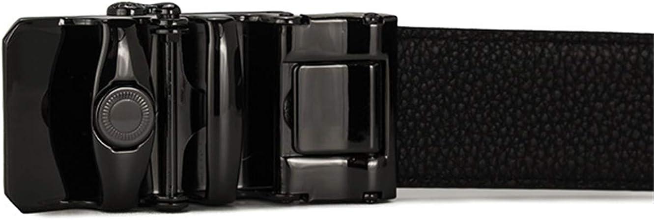 Mens fashion automatic buckle leather belt 014B, 105cm