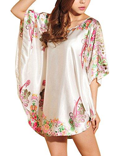 2 Camicia Camicie Guiran Da Pigiama Stampato Notte Estivo Notte Donna Da H6v0x6