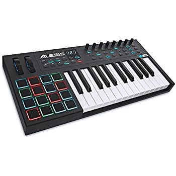 alesis vi25 advanced 25 key usb midi keyboard drum pad controller 16 pads 8. Black Bedroom Furniture Sets. Home Design Ideas