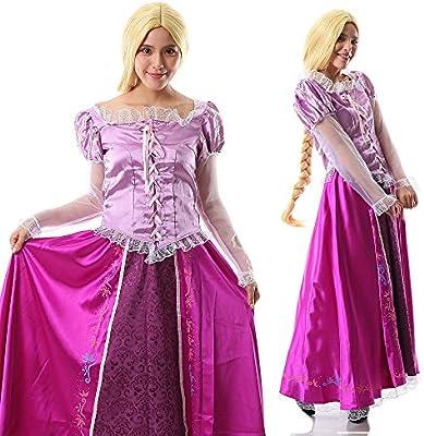 【 サイズ選べる 】monoii ラプンツェル コスプレ ハロウィン レディース 衣装 コスチューム 大人 ドレス 425