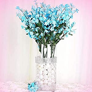 Inna-Wholesale Art Crafts New 384 Turquoise Silk Baby Breath Filler Decorating Flowers Decorating Flowers Party Centerpieces - Perfect for Any Wedding, Special Occasion or Home Office D?cor 106