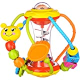 Coolecool Healthy Ball Baby Toys 3 6 Months Baby Rattle Educational Learning Activity Sensory Toys for Infants Babies (Multicolored)
