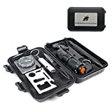 ECHI Outdoor Survival Tools, 10 in 1 Multi-Purpose Outdoor Emergency Survival Security Defense Gear, Kits for Boy Scout and Scoutcamp