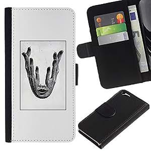KLONGSHOP // Tirón de la caja Cartera de cuero con ranuras para tarjetas - tanto la mano - Apple Iphone 6 //