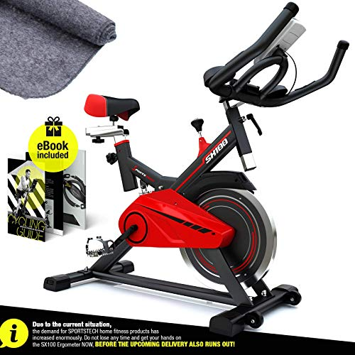 Sportstech Professional Exercise Bike   Bike for Home with 13KG Flywheel & E-Book   Bicycle with Video Events…