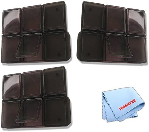 3 SD Memory Card Holders for 6 Cards Each Total Microfiber Cloth 12 Slots