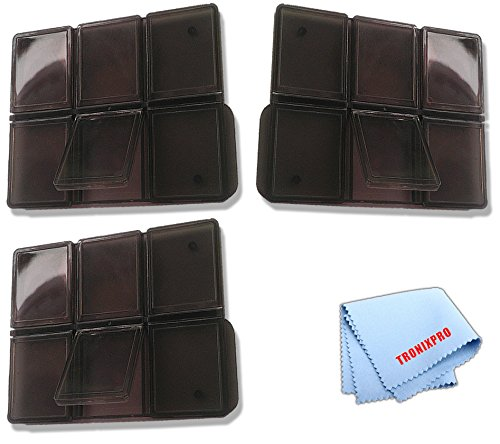 3 SD Memory Card Holders for 6 Cards Each, Total: 12 Slots, Microfiber Cloth - 6pc Multi Memory Card Holder