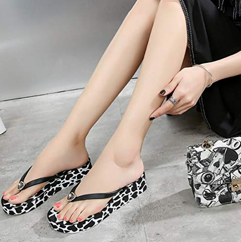 Plage Antidérapant Shangxian Femmes Tongs Plateforme Piscine Fête Casual Étanche Sandales 37 Tendance Mode Chaussons black Bvvdgw