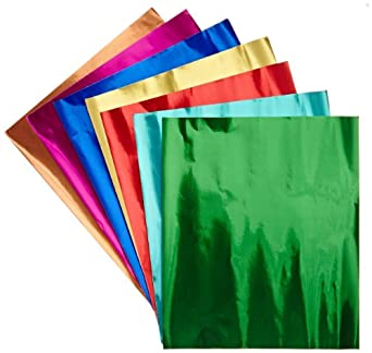 hygloss products metallic foil paper sheets 8 assorted