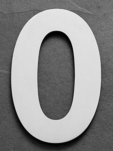 xaptovi – Número de Casa de acero inoxidable – 25 cm – XXL inoxidable Matrícula/Casa De Números 0 a 9 – Dutch Quality, Plateado