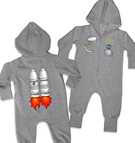Astronaut Costume Baby Onesie - Washed Grey 12-18 Months - Nasa Baby Costumes