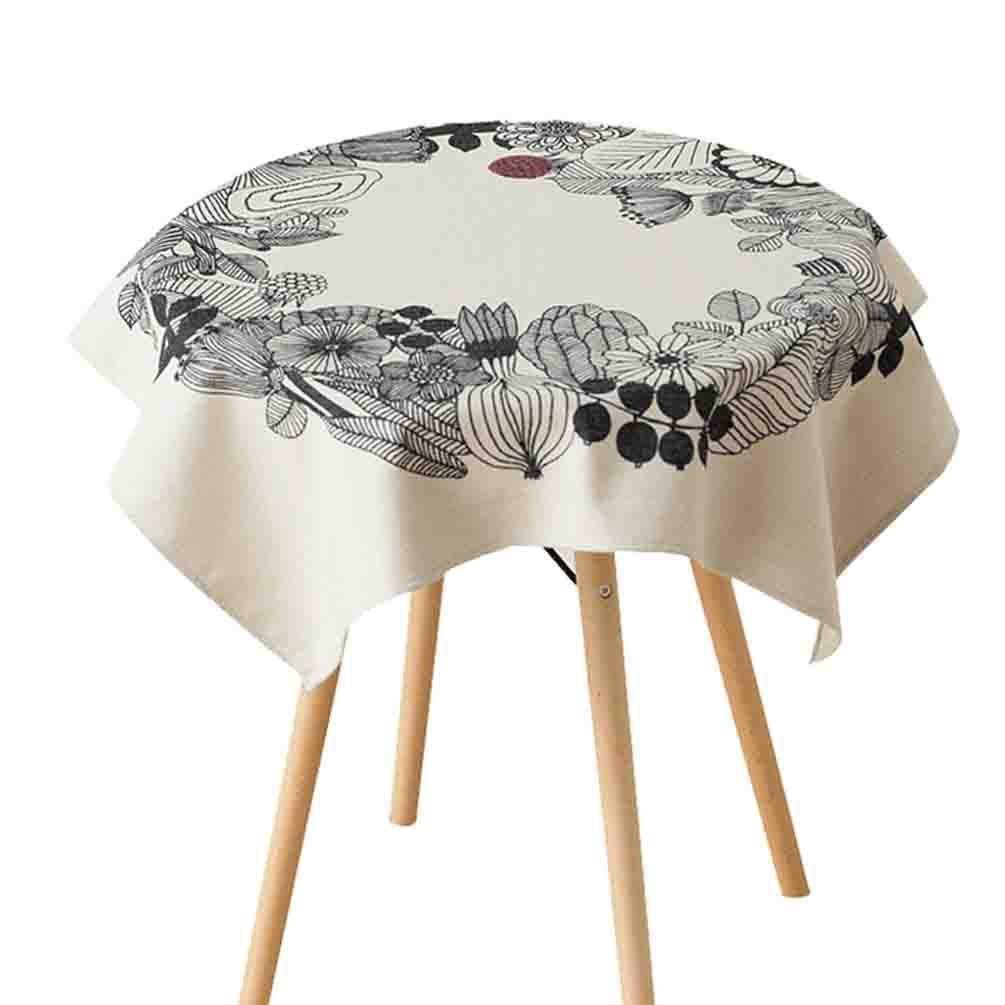 Juexianggou 牧歌的な生地布テーブルクロスクリエイティブコーヒーテーブル防塵布ダイニングテーブルクロス ダイニングルーム用テーブルクロス (Color : C)  C B07S8WJ6VC
